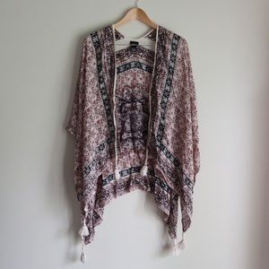 Rue21 Boho Wrap Cover-Up with Tassels